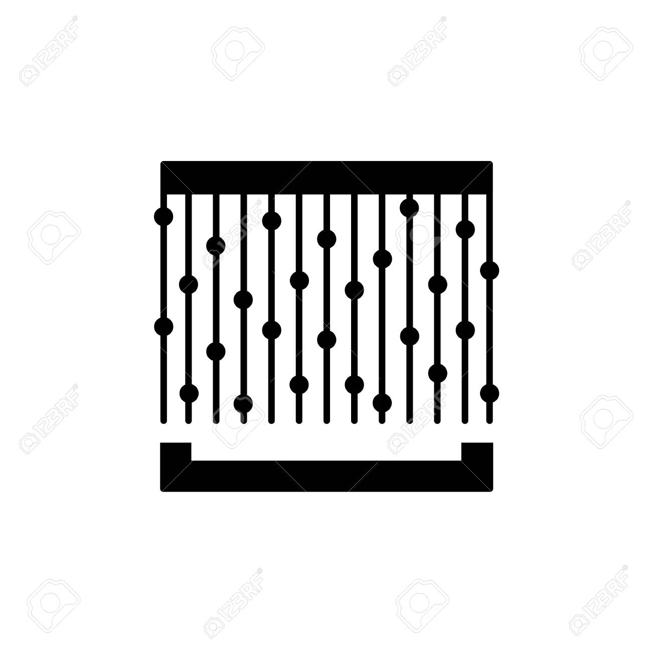 Flat icon of string window shade. Isolated object on white background - 126841633