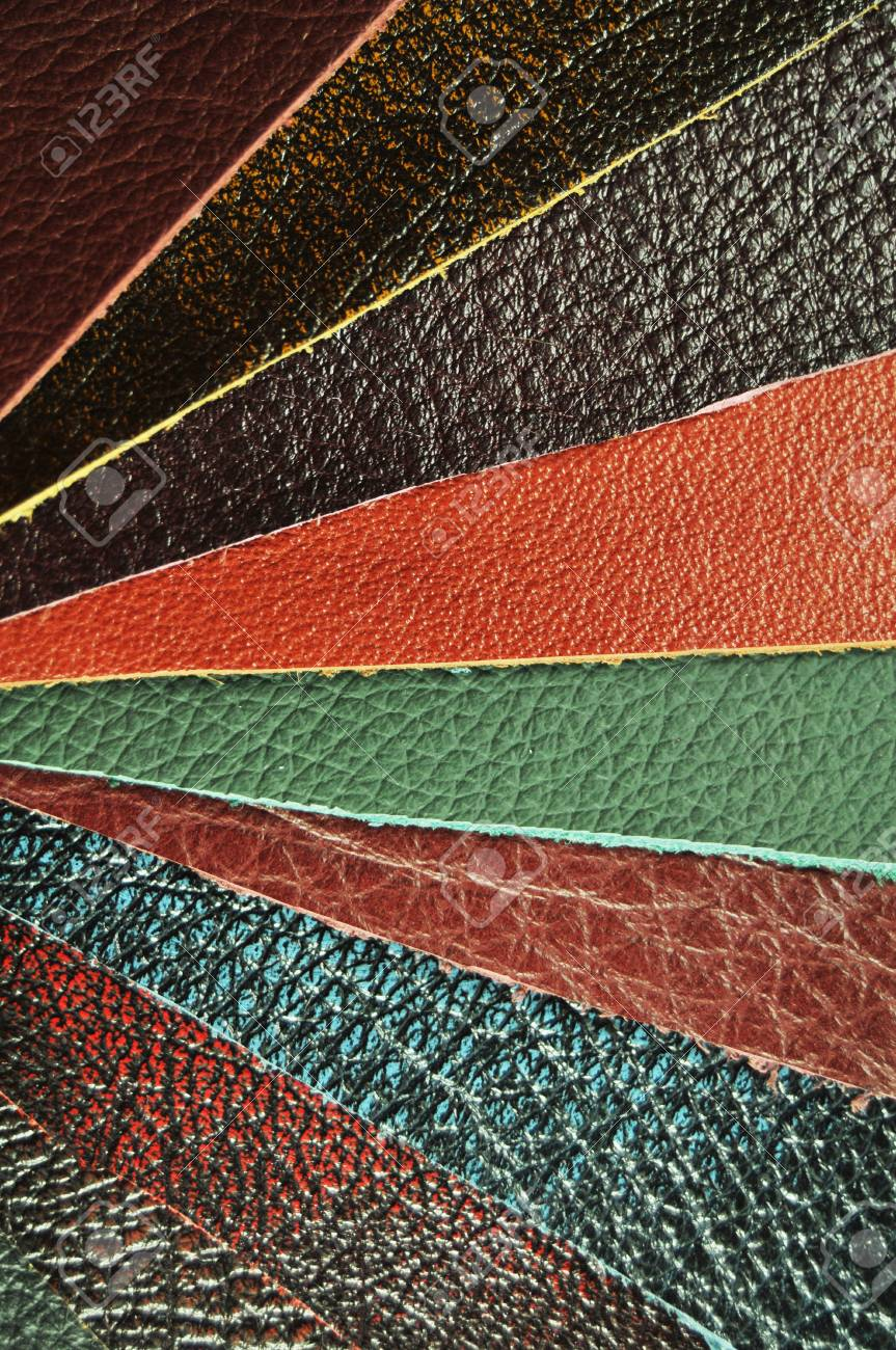 Leather samples Stock Photo - 10445901