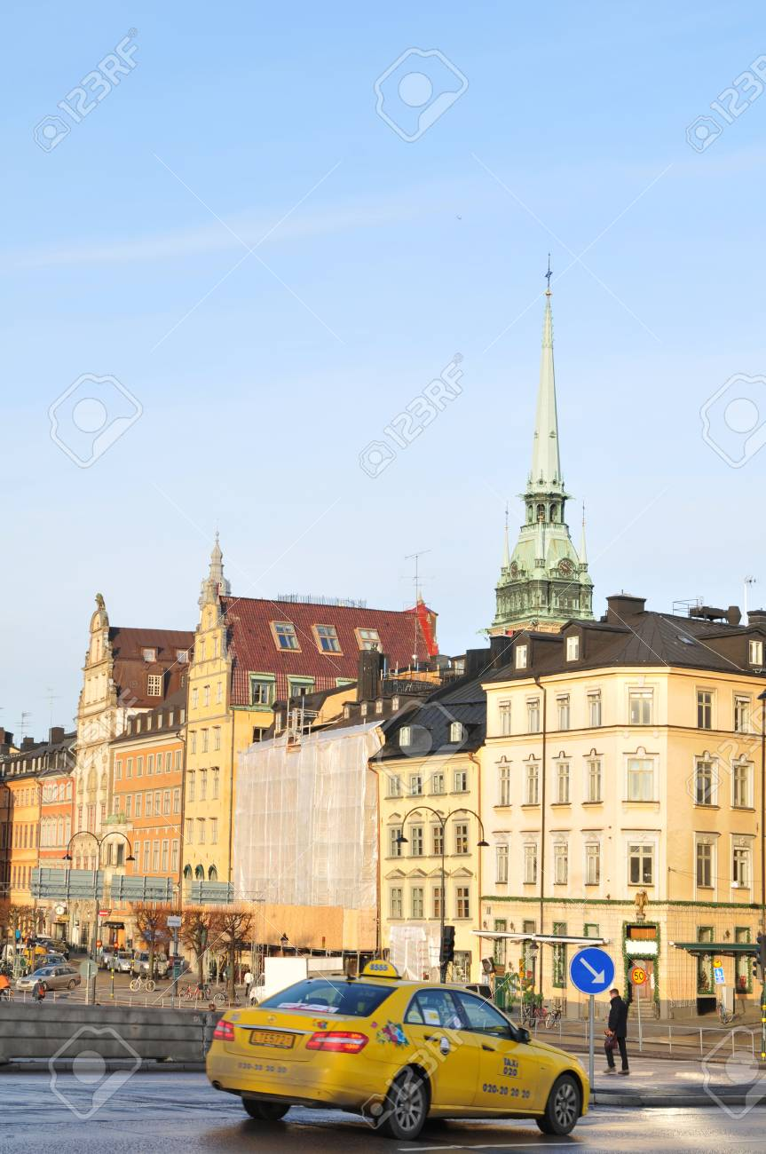 Stockholm, Sweden - 14 Dec, 2011: Historical buildings in Gamla Stan, the old town of Stockholm Stock Photo - 12147636