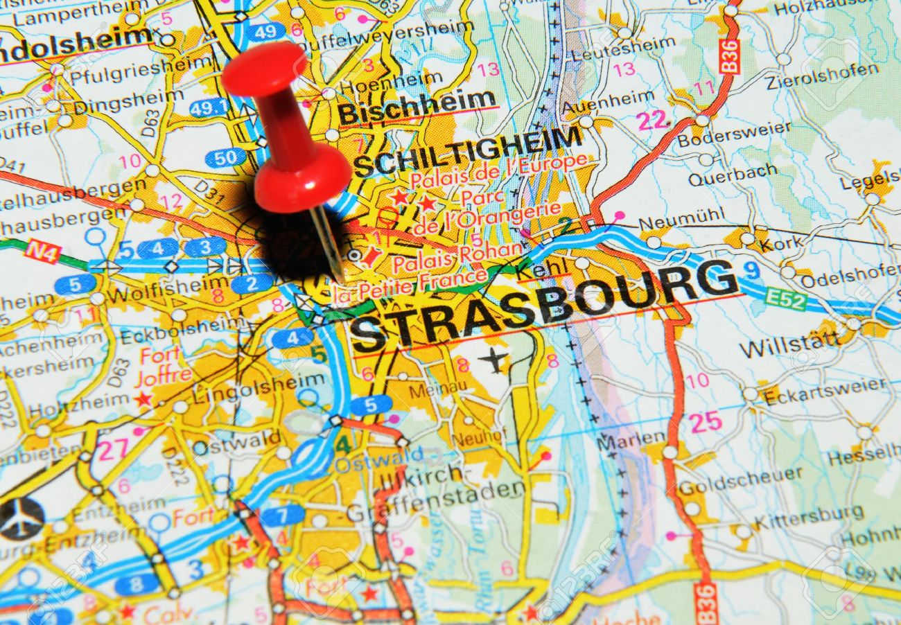 london uk 13 june 2012 strasbourg france marked with red