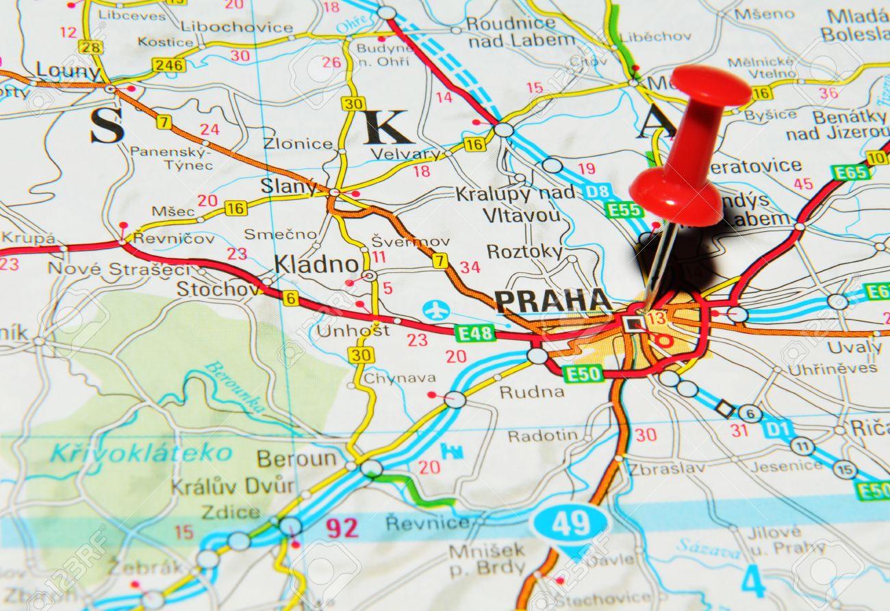 Prague Map Of Europe
