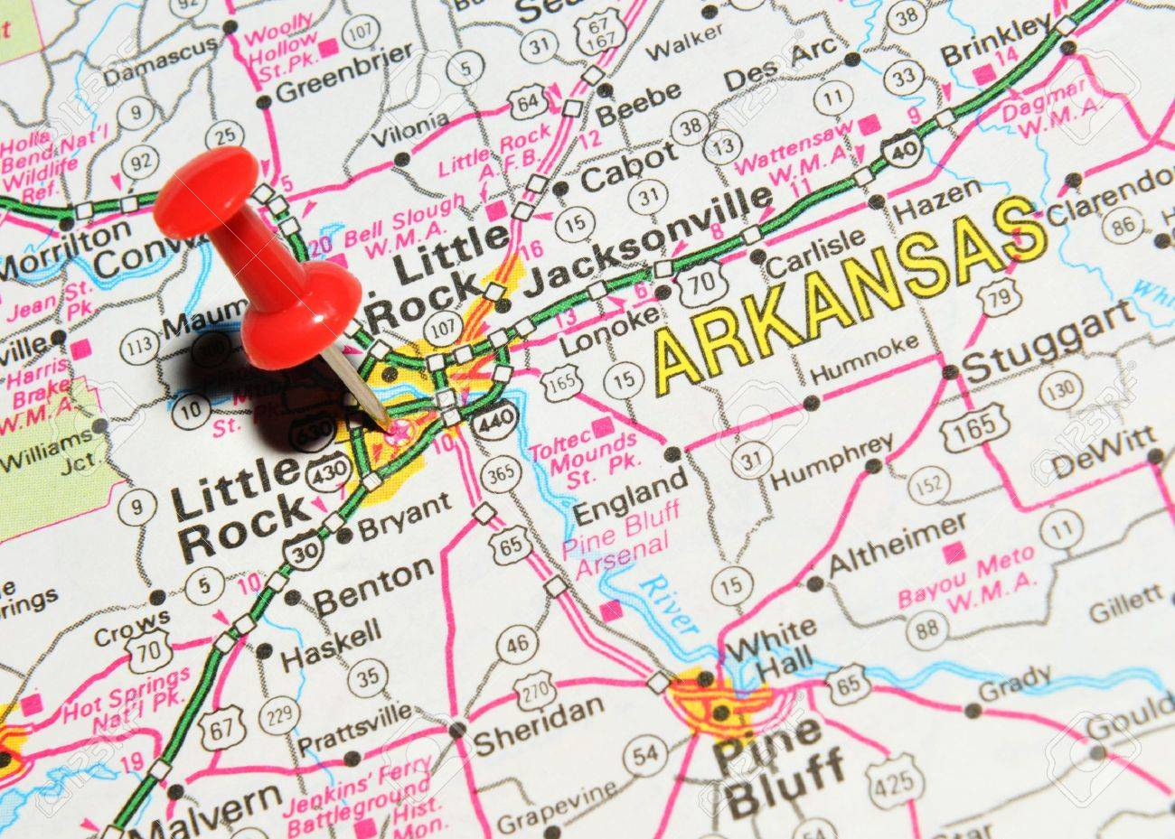 Arkansas State Map Stock Photos Images Royalty Free Arkansas - United states map arkansas