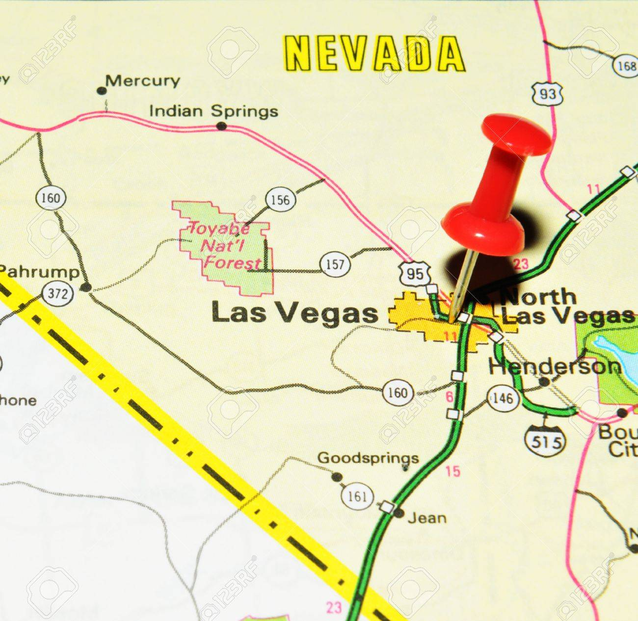 Las Vegas Us Map Globalinterco - Us map with staes marked