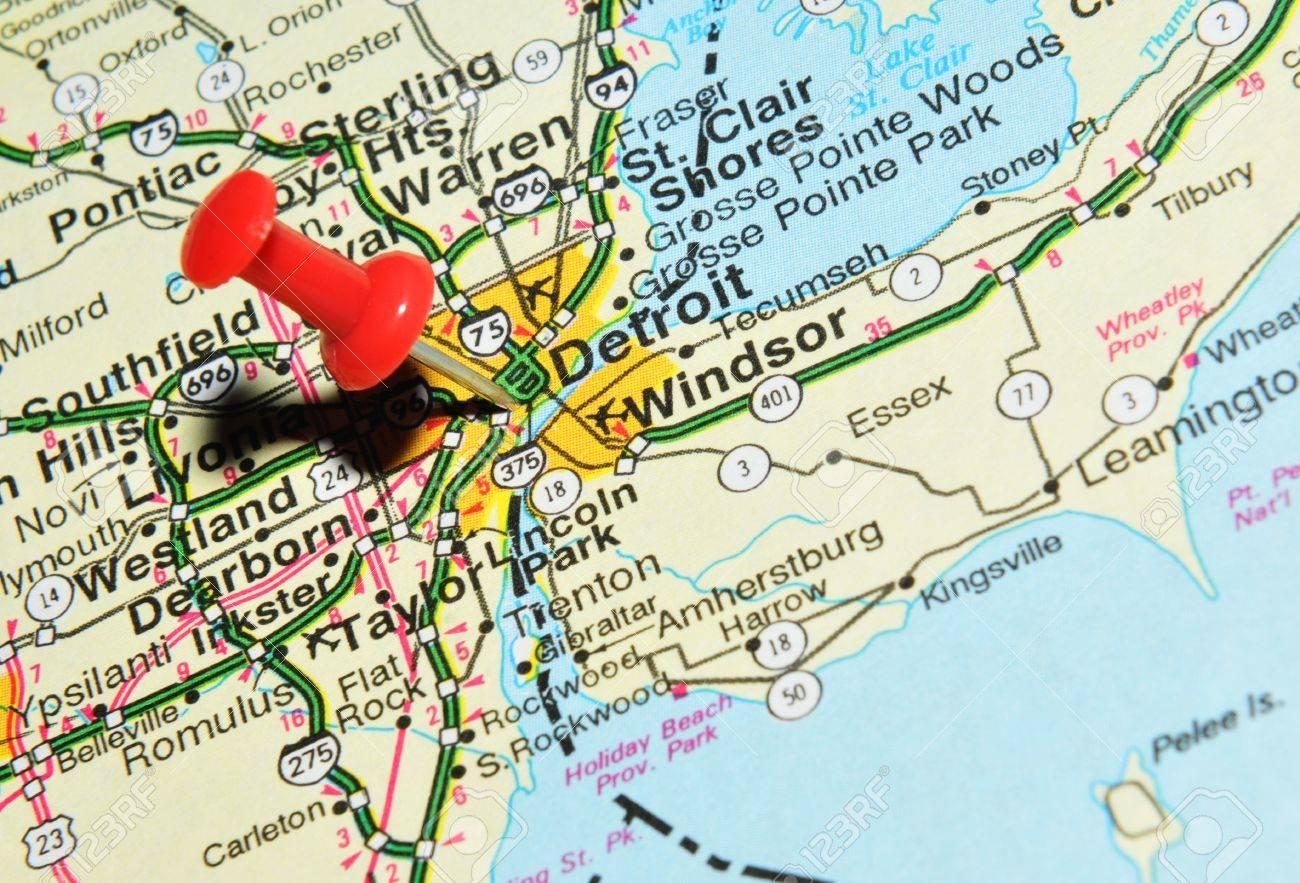Detroit Maps And Orientation Detroit Michigan MI USA Macomb - Detroit on us map