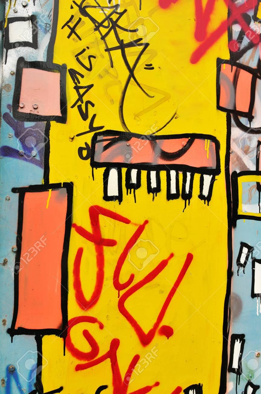 London, UK - September, 2011: Abstract colorful urban graffiti in London suburbs  Stock Photo - 15741141