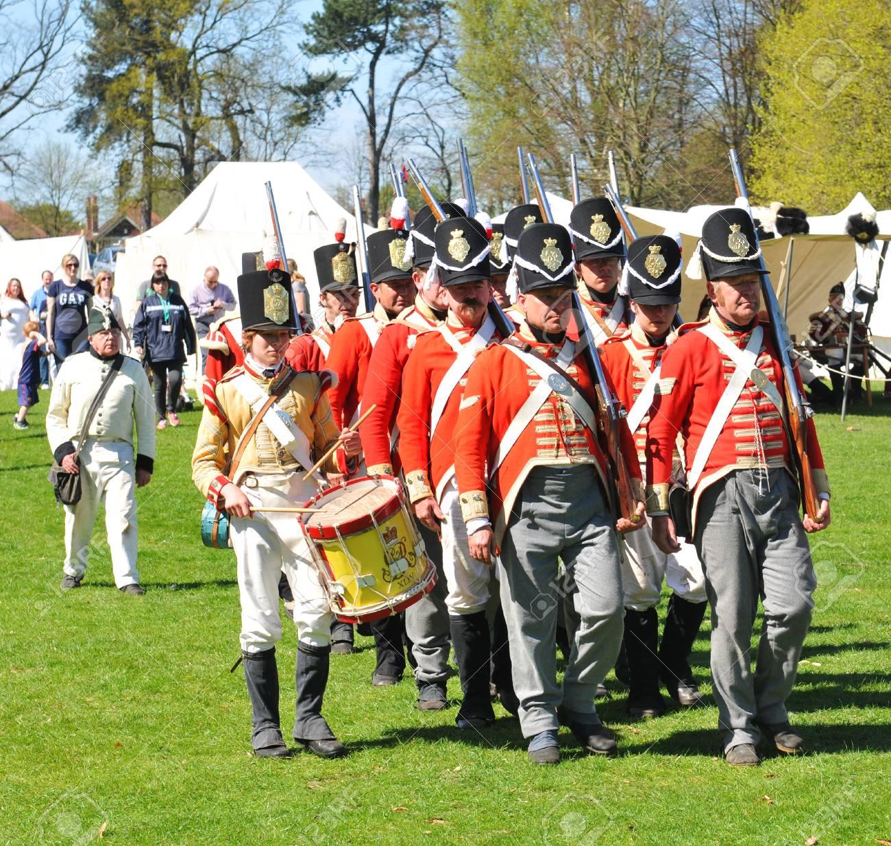 Nottingham, UK - 6 May 2013  War reenactment at Wollaton Park Stock Photo - 22294632