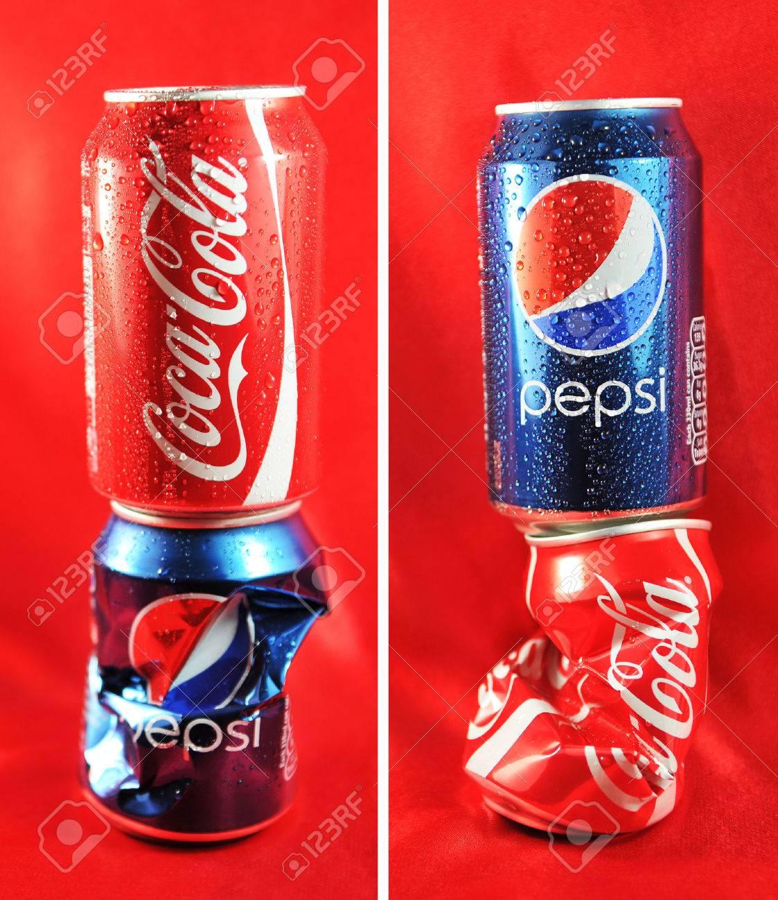 LONDON, UK - FEBRUARY 27, 2011: Coca Cola vs  Pepsi competition