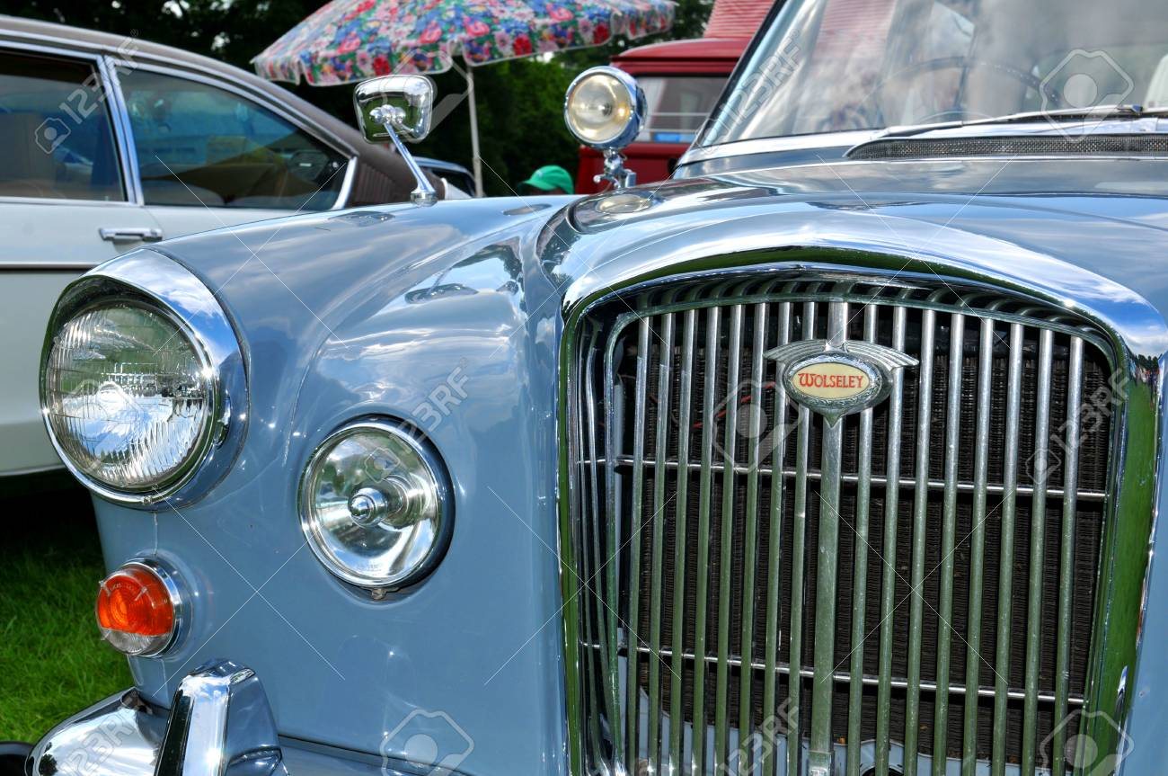 NOTTINGHAM, UK. JUNE 1, 2014: Wolseley Vintage Car For Sale In ...