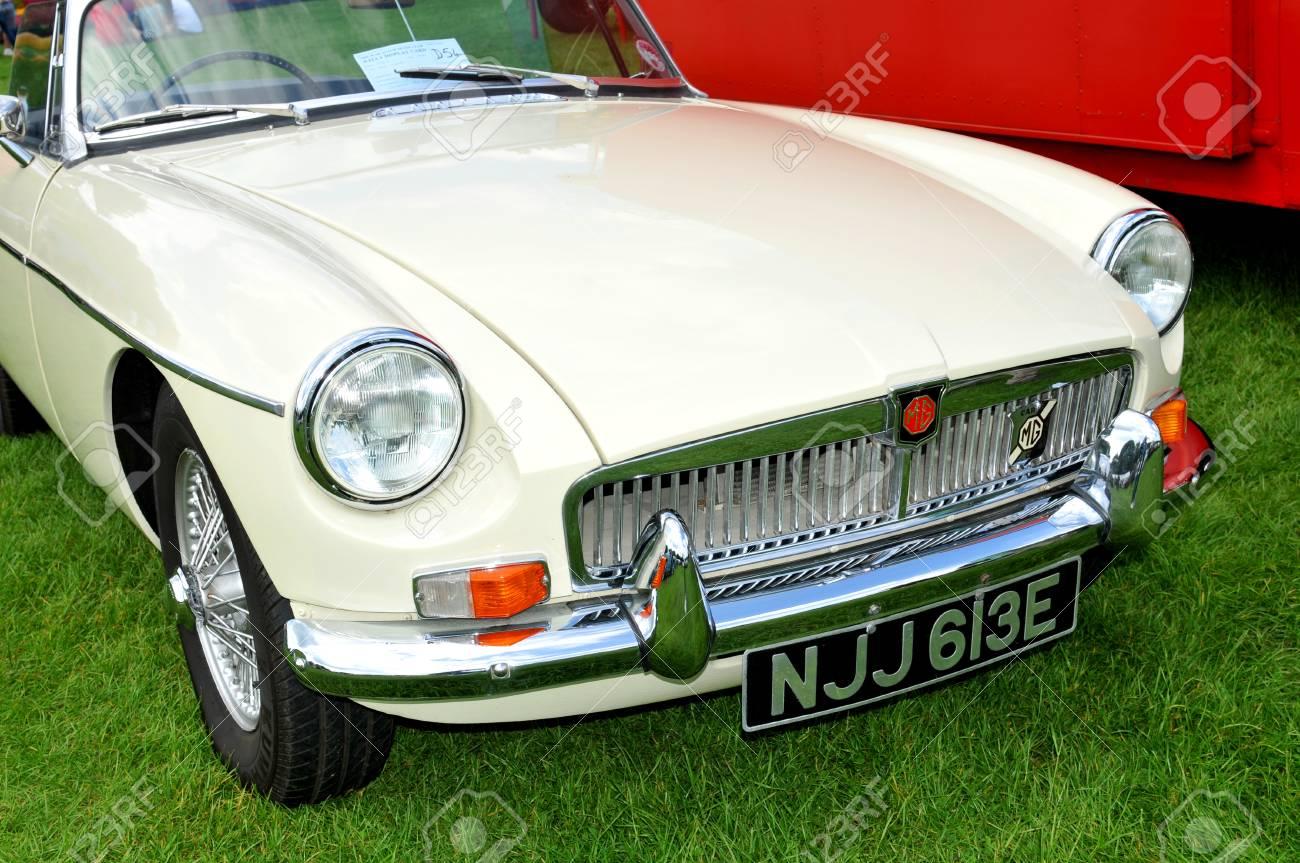 NOTTINGHAM, UK. JUNE 1, 2014: MG Vintage Car For Sale In Nottingham ...