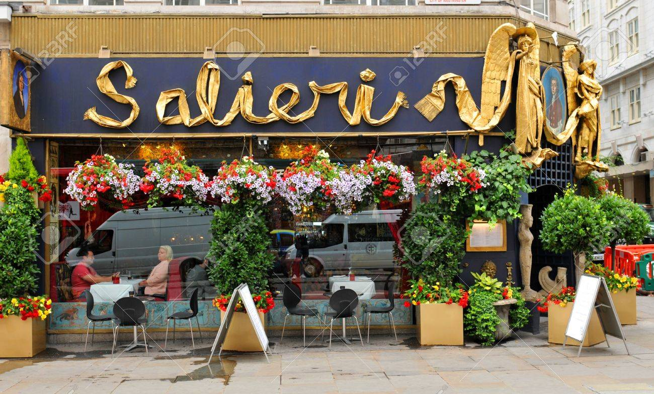 London Uk July 9 2014 Facade Of The Salieri Italian Restaurant Stock Photo Picture And Royalty Free Image Image 43260708