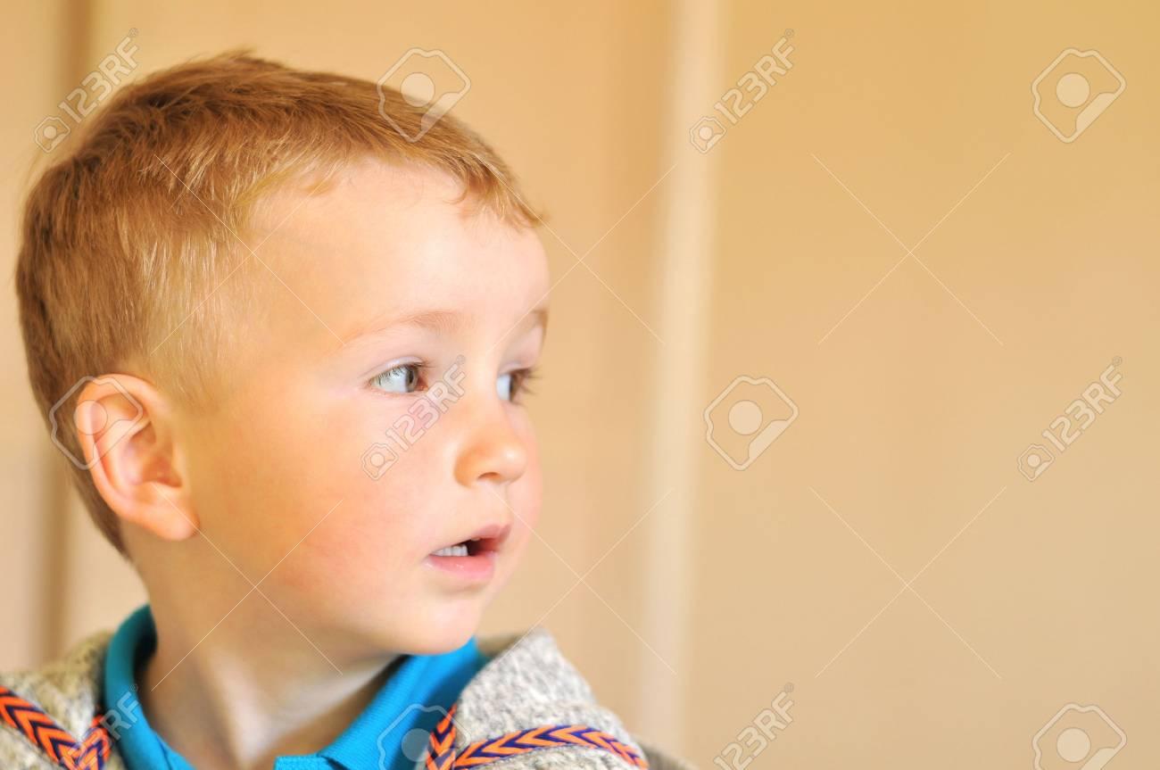 Portrait of an autist child - 44621595