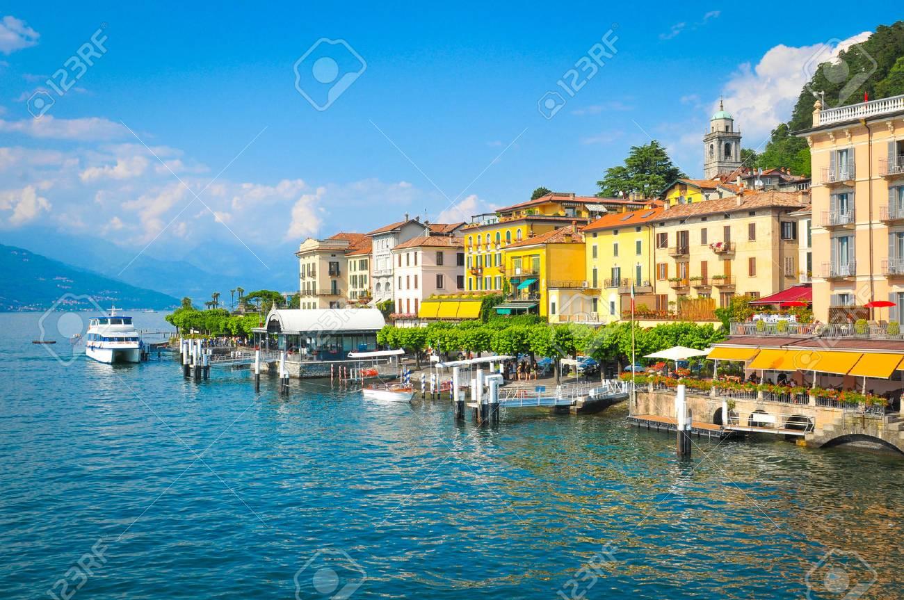 Panorama of Lake Como in Bellagio, Lombardy, Italy - 82940445