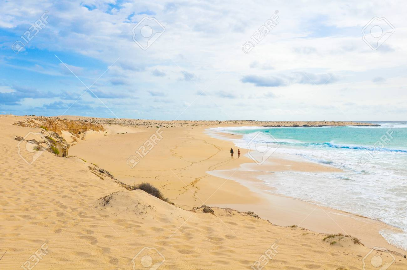 Secluded beaches on the island of Boa Vista, Cape Verde - 96293191