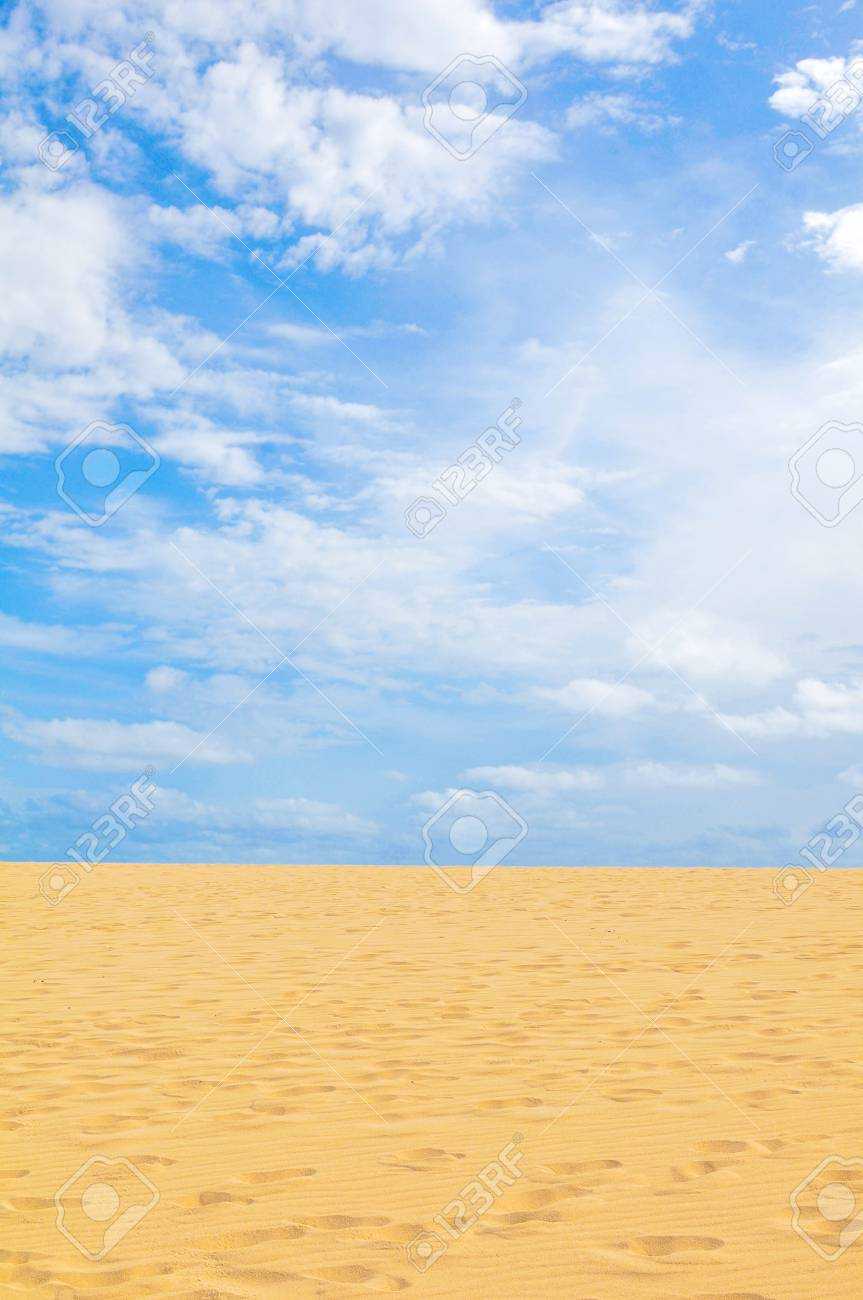 View of desert in Boa Vista, Cape Verde, Africa - 96293247