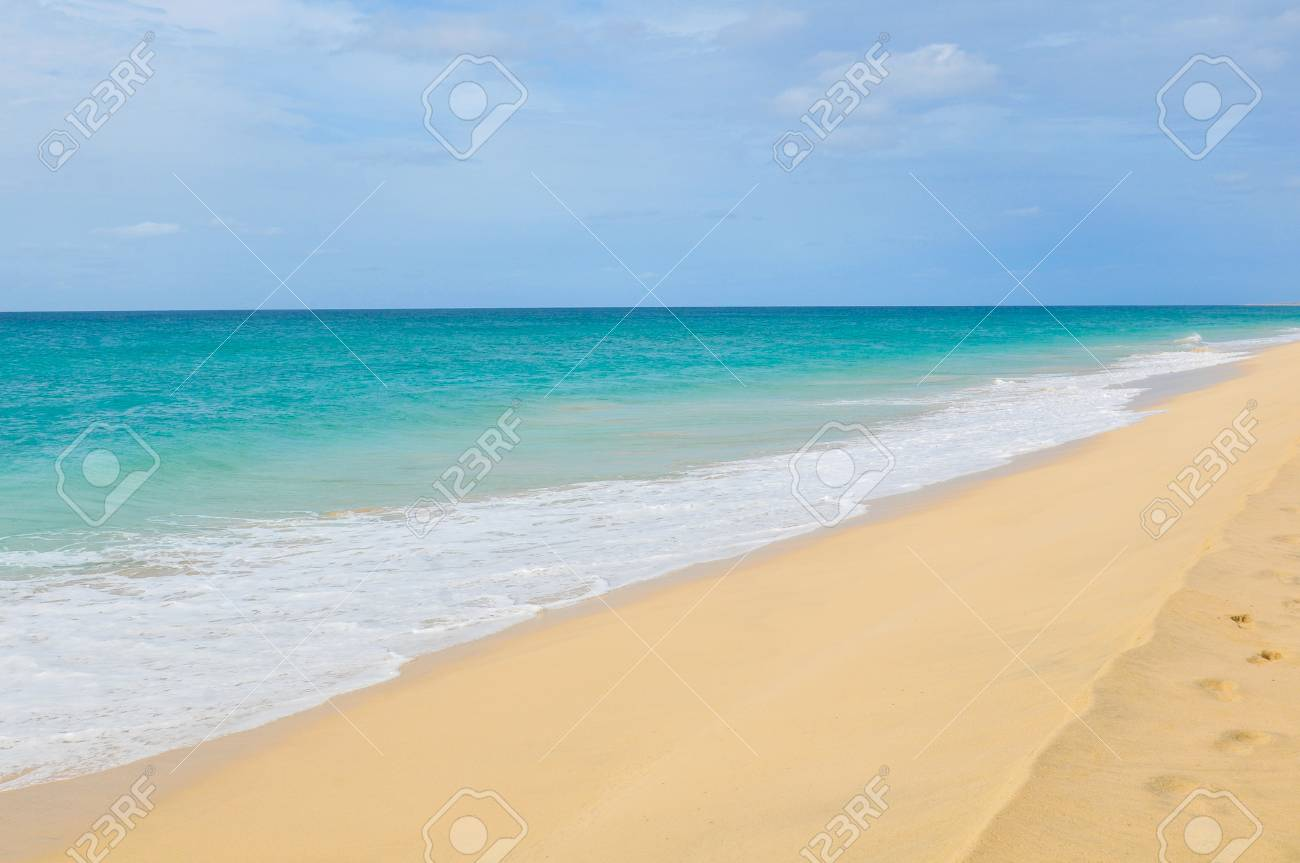 Detail of exotic waves in Cape Verde, Africa - 96293259