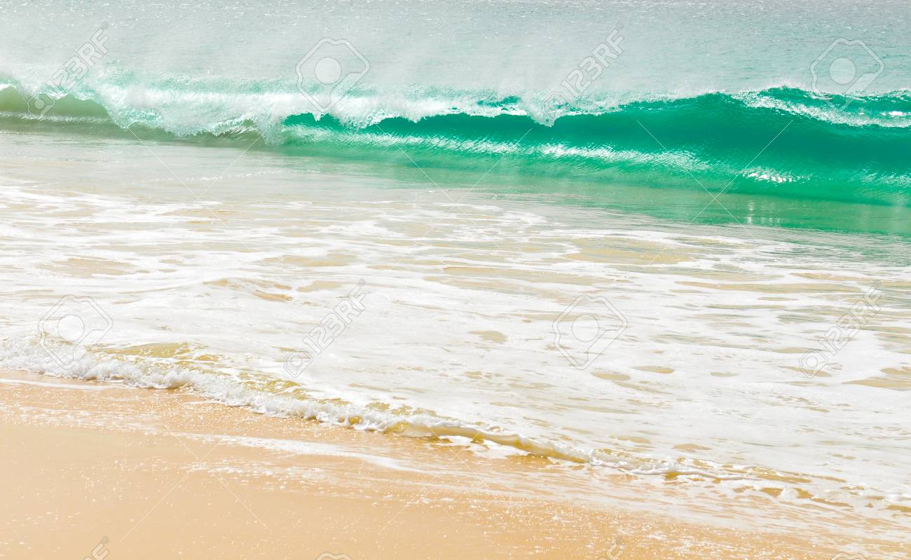 Detail of waves of a tropical sea - 96390327