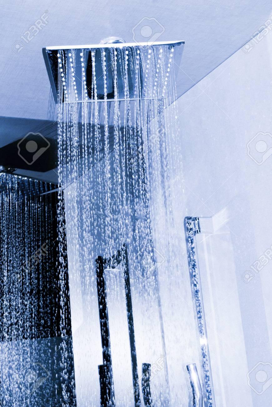 Detail of modern ceiling shower - 96390329