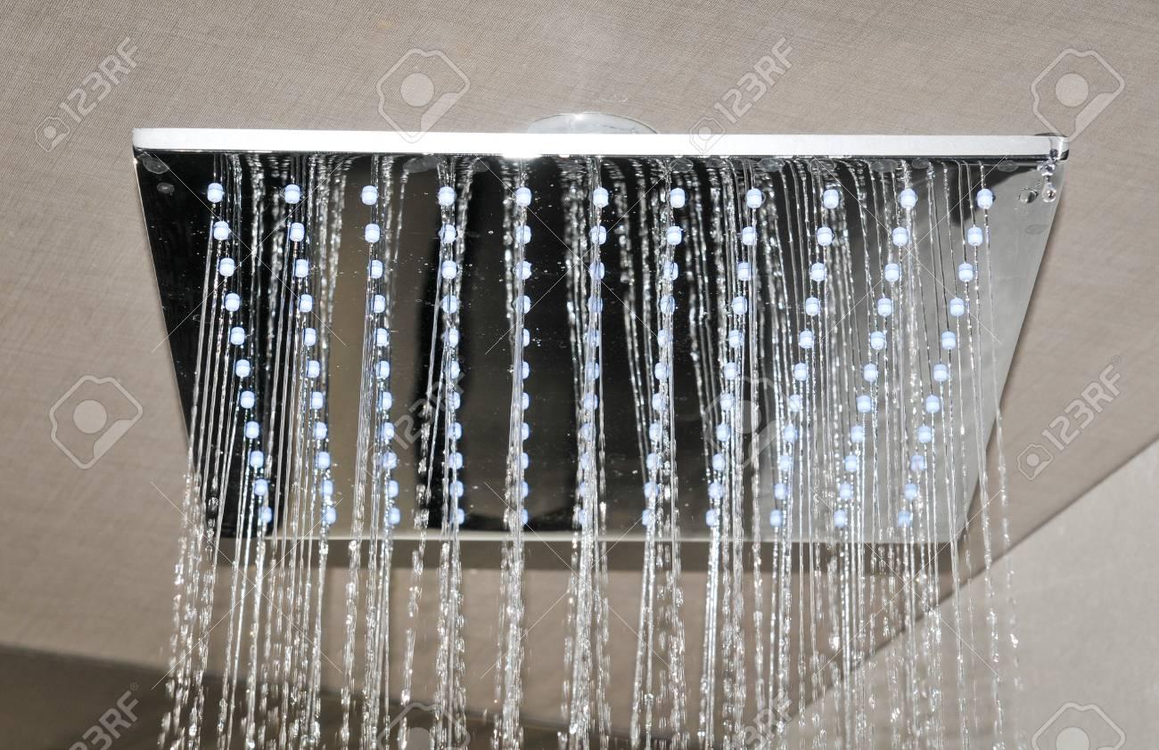 Detail of modern ceiling shower - 96375067