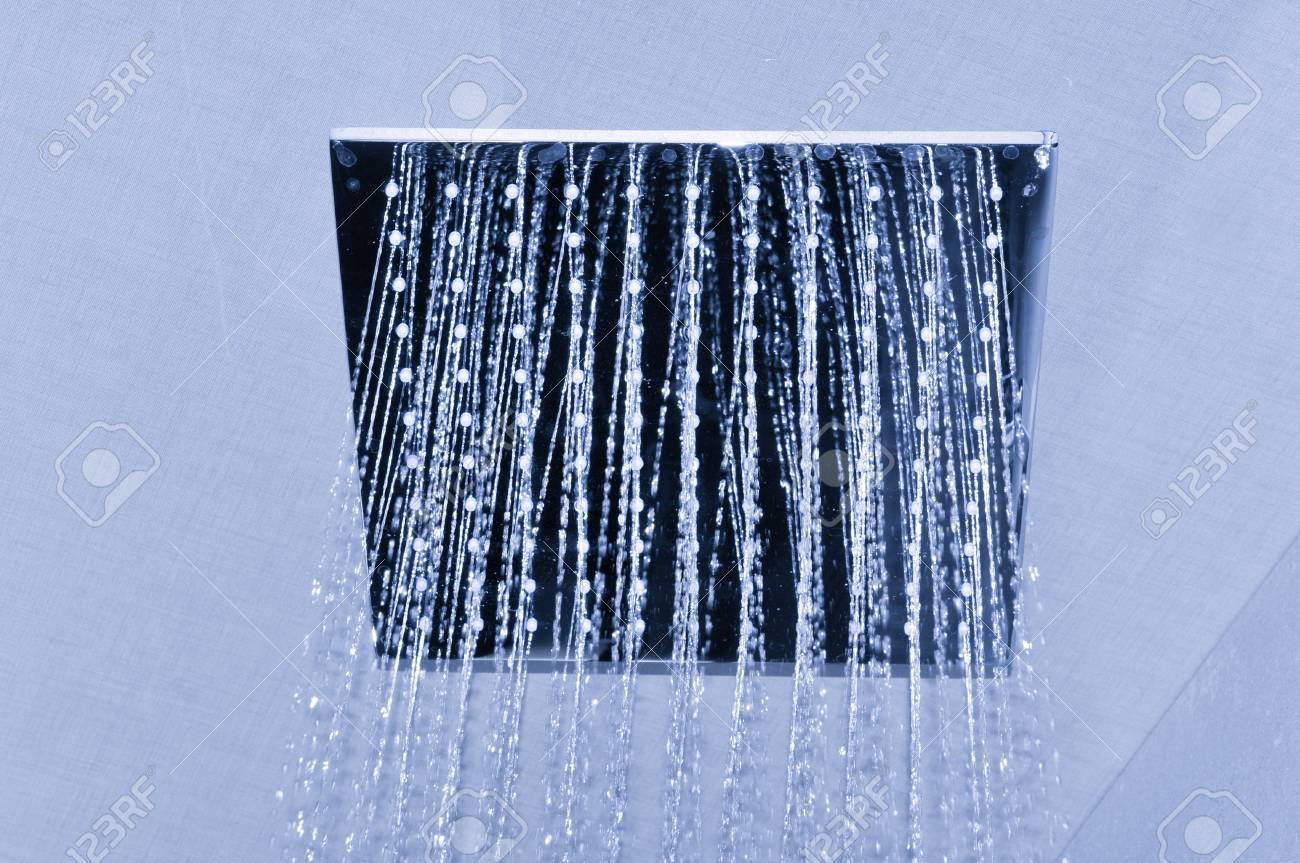 Detail of modern ceiling shower - 96399156