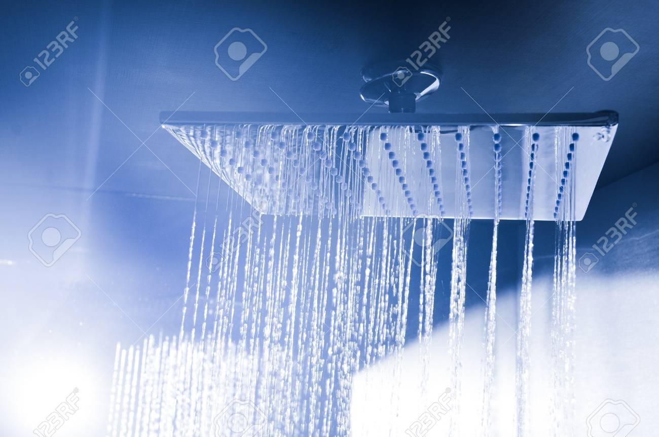 Detail of modern ceiling shower - 96390333