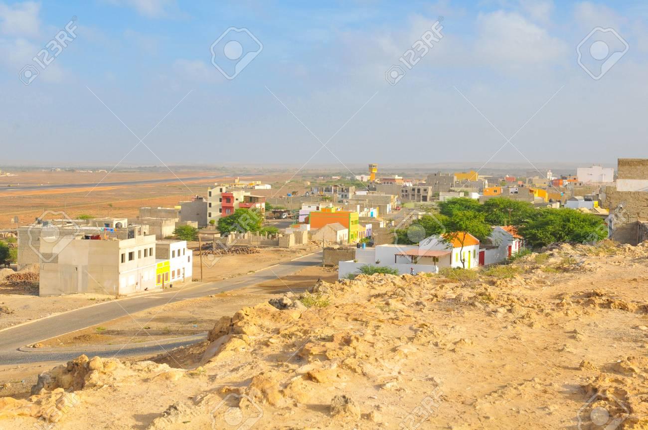 View of Rabil on the island of Boa Vista, Cape Verde - 96375093