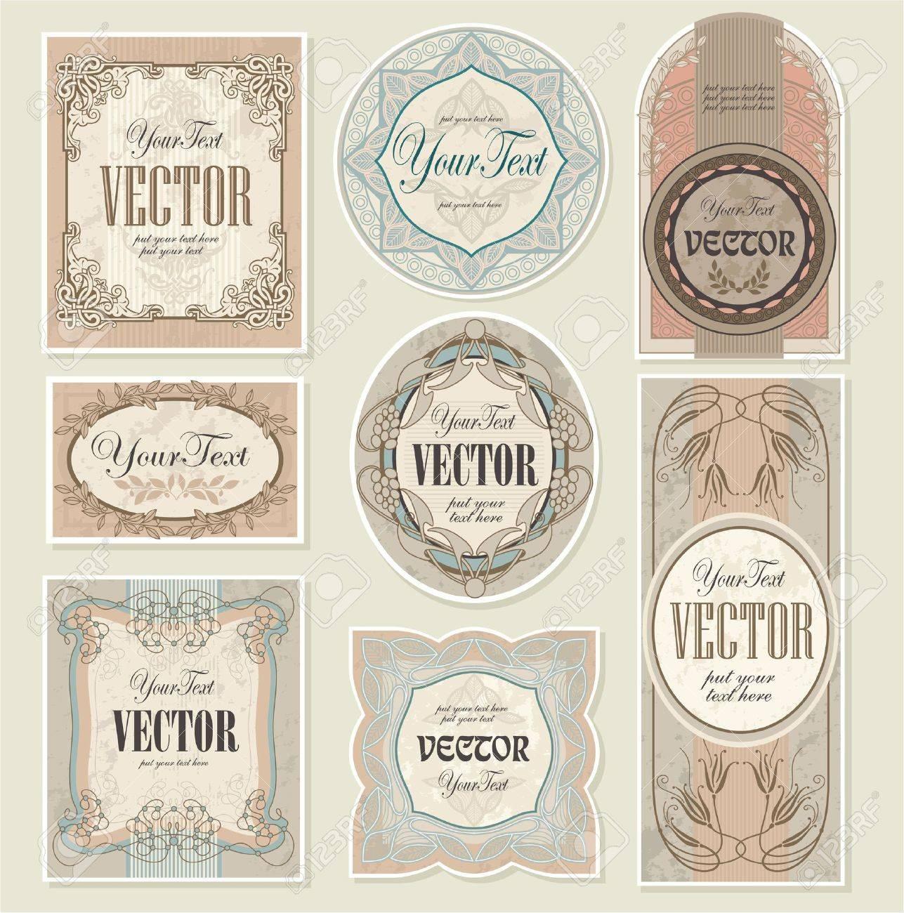 set vintage labels Stock Vector - 9739639