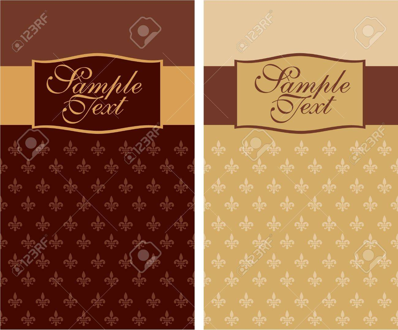 cover design with french royal lily Stock Vector - 9932406