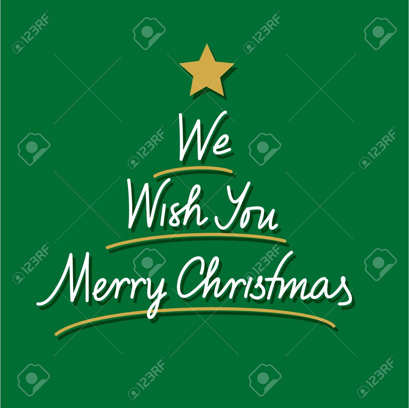 We Wish You Merry Christmas Hand Lettering Royalty Free Cliparts ...