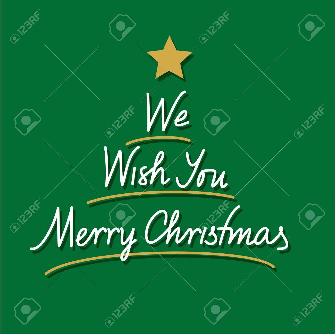 Wir Wünschen Ihnen Frohe Weihnachten Hand Lettering Lizenzfrei ...