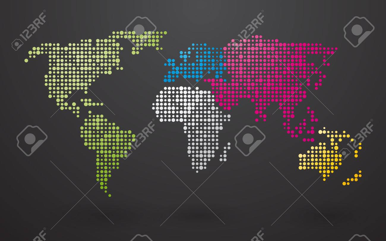 World map made up of small dots with distinct continents royalty vector world map made up of small dots with distinct continents gumiabroncs Choice Image