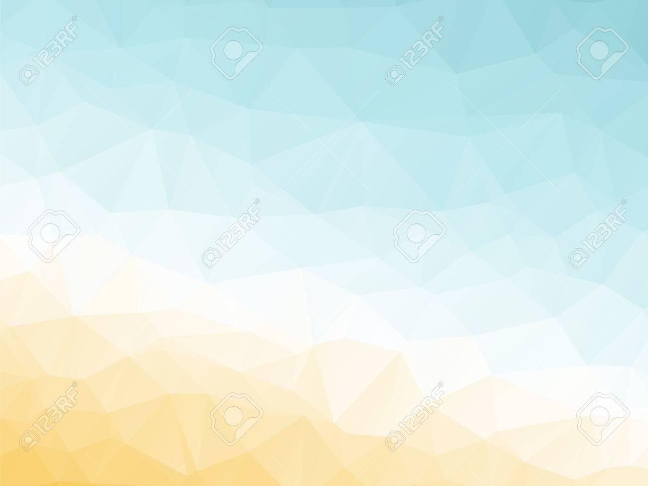Abstract Triangular Yellow White Orange Summer Background Stock Vector