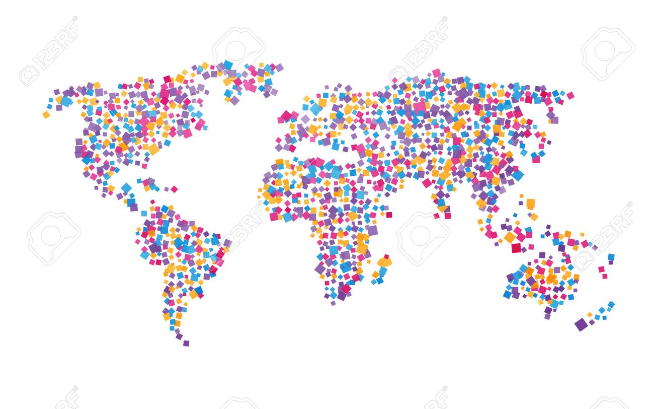 World map of colorful squares royalty free cliparts vectors and world map of colorful squares stock vector 50424846 gumiabroncs Choice Image