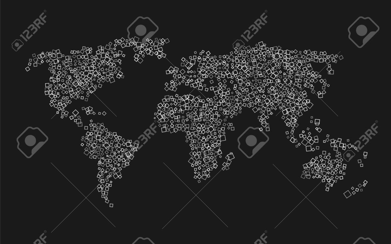 World map of white squares on black background royalty free cliparts vector world map of white squares on black background gumiabroncs Images