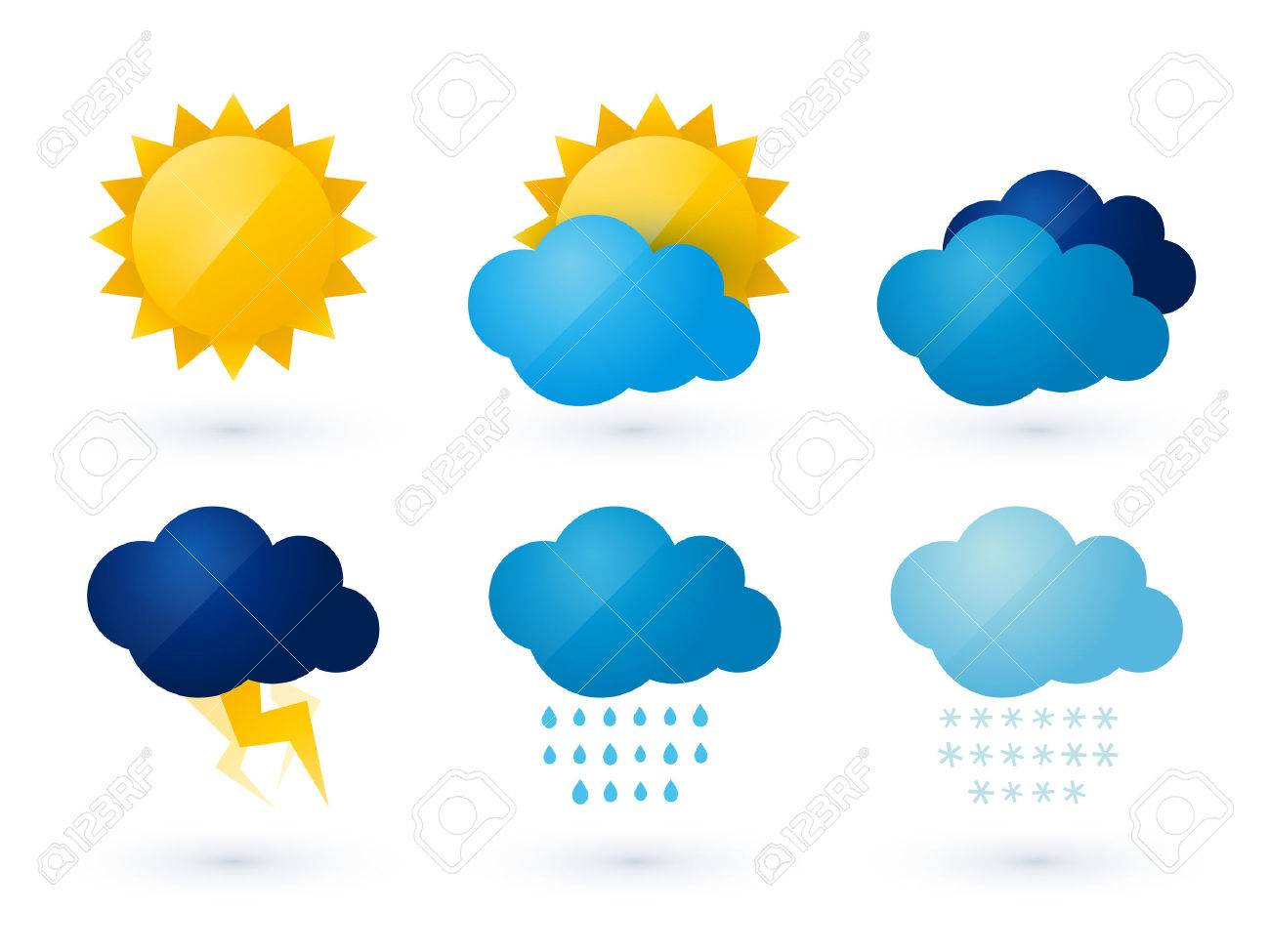Set Of Weather Vector Icons Royalty Free Cliparts Vectors And Stock Illustration Image 50426740