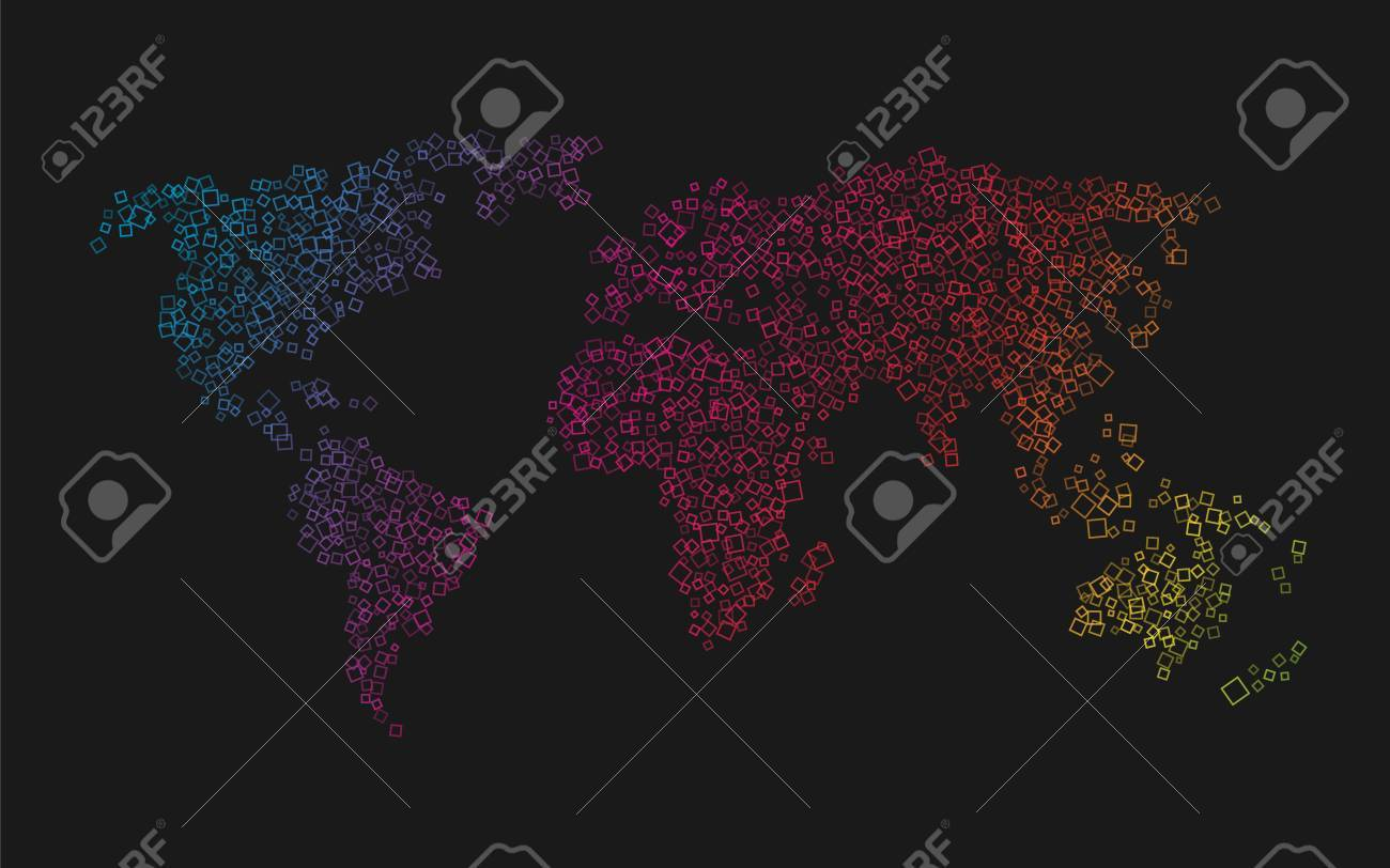 World map of colorful squares royalty free cliparts vectors and vector world map of colorful squares gumiabroncs Image collections