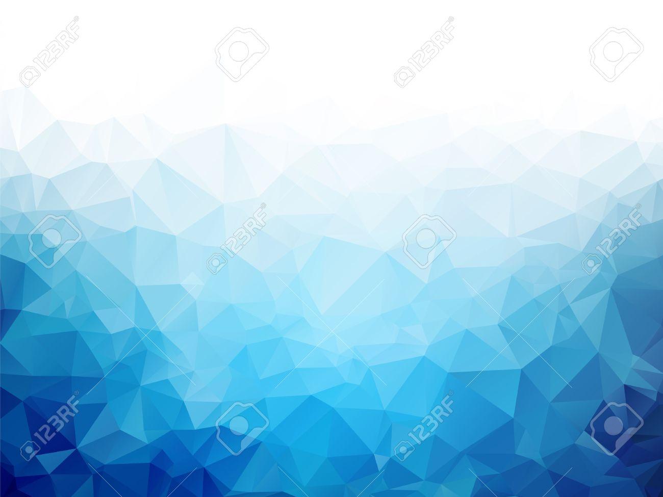 Geometric blue ice texture background - 52533475