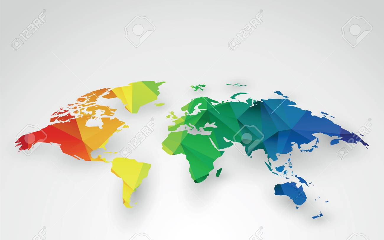 Color world map illustration royalty free cliparts vectors and color world map illustration stock vector 74872660 gumiabroncs Images