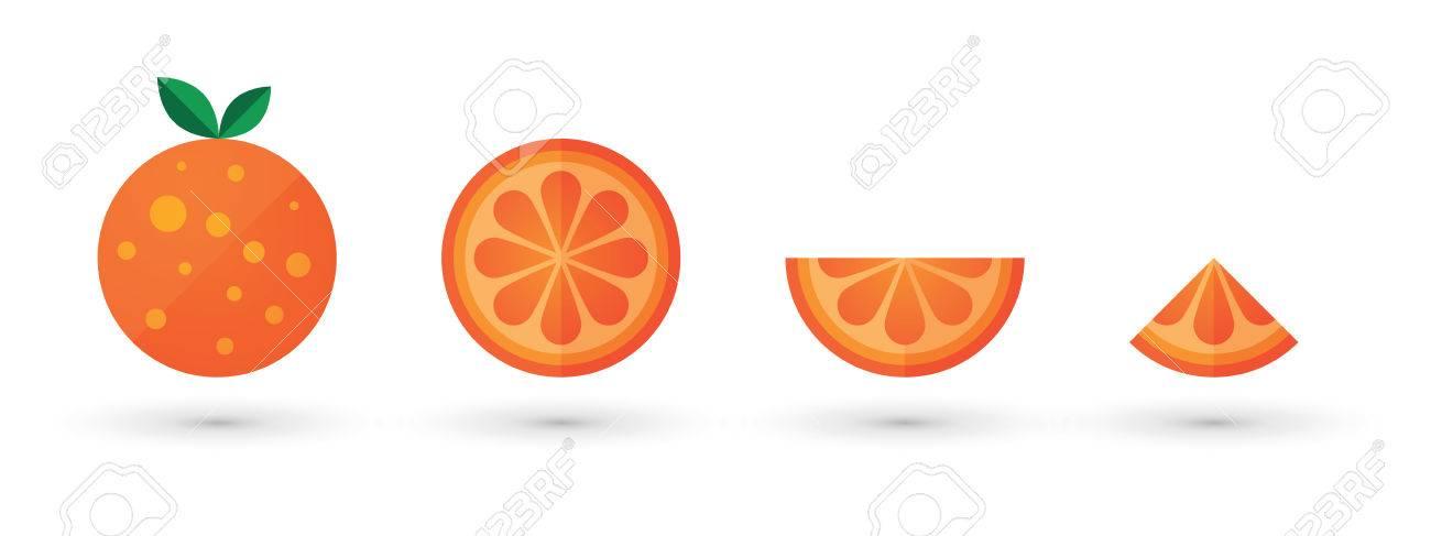 Orange Fruit Slice Abstract Icon Set