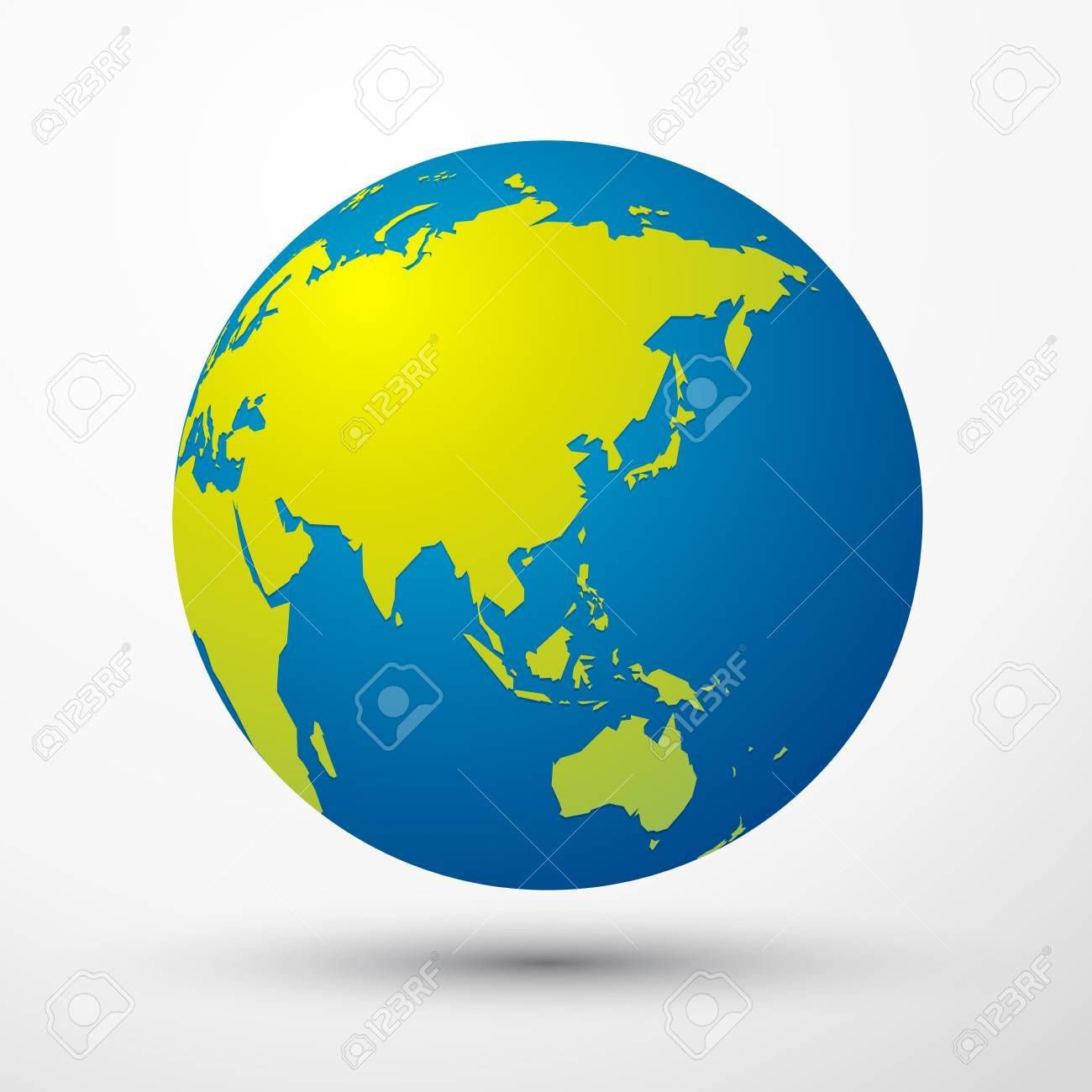 a world globe asia australia japan on a plain background royalty rh 123rf com world globe vector png world globe vector logo