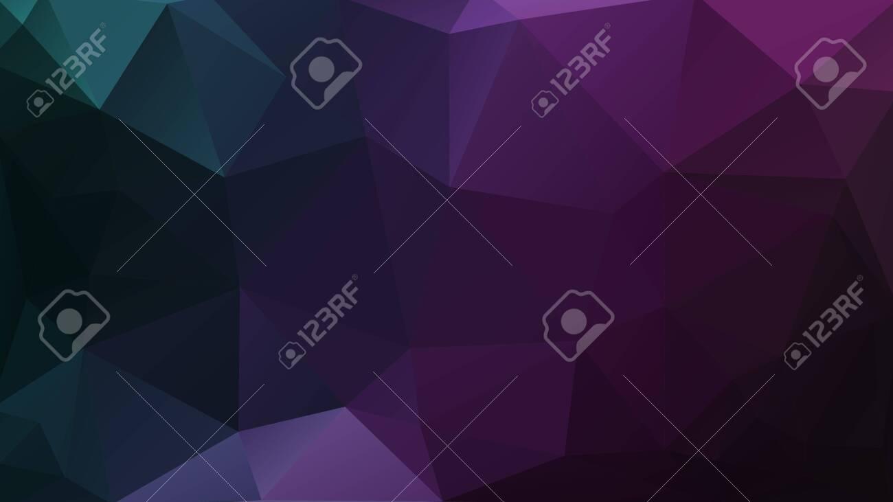 dark geometric background purple mosaic triangles texture - 129220100
