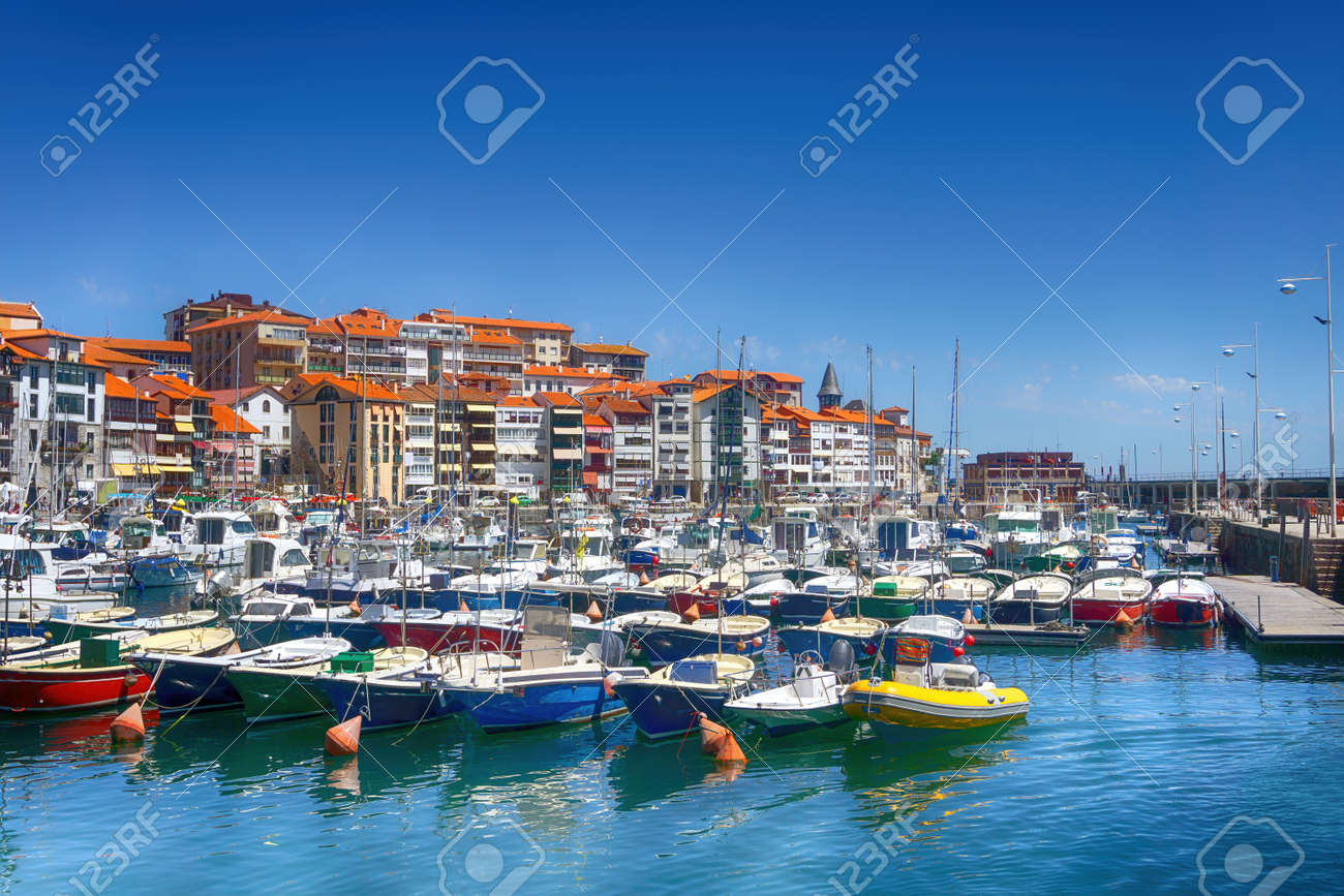 Lekeitio village and port in Basque Country - 150642119