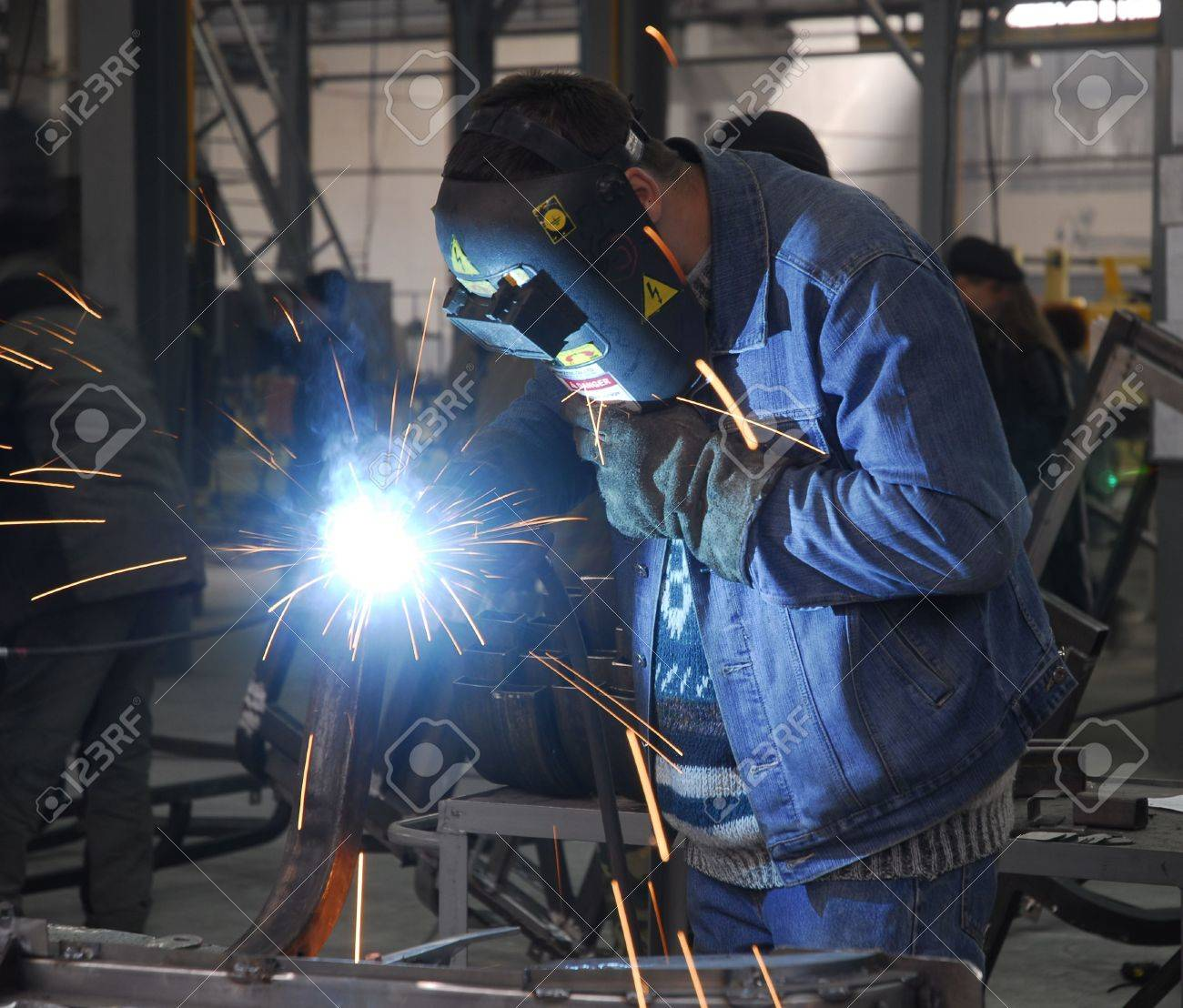 Welding Operator Holding His Mask Stock Photo Picture And Royalty Free Image Image 897704