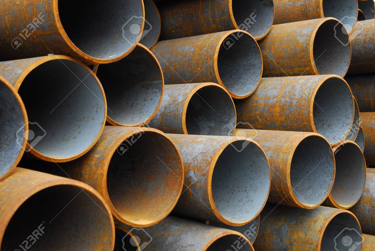 Many rusty pipes of Russian factory Stock Photo - 3092879
