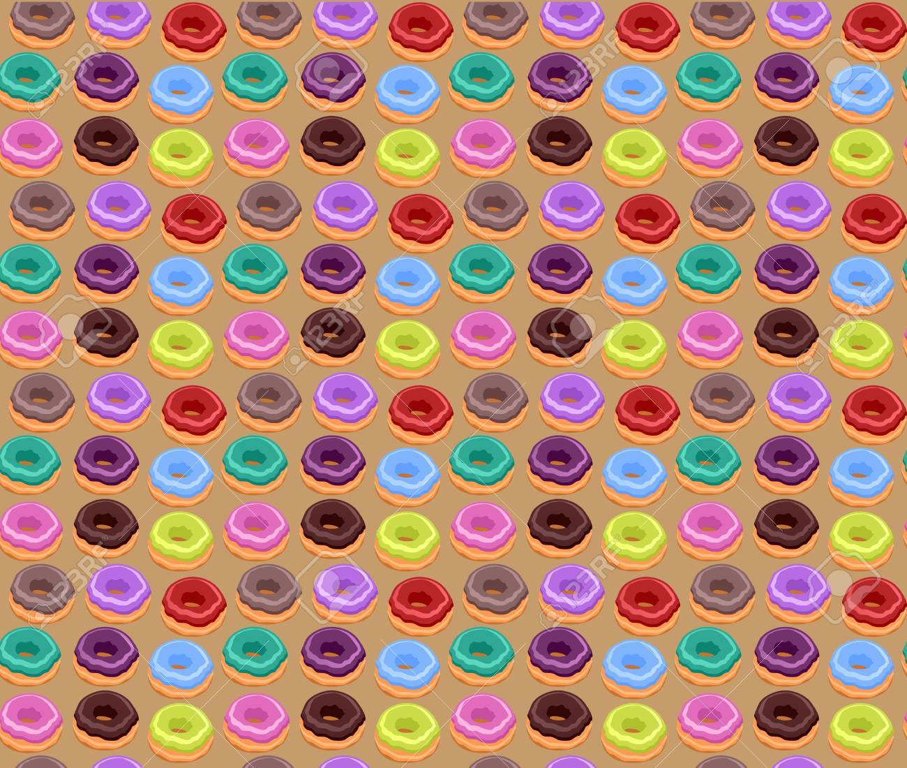 Seamless of Colorful Donuts Stock Vector - 14117325