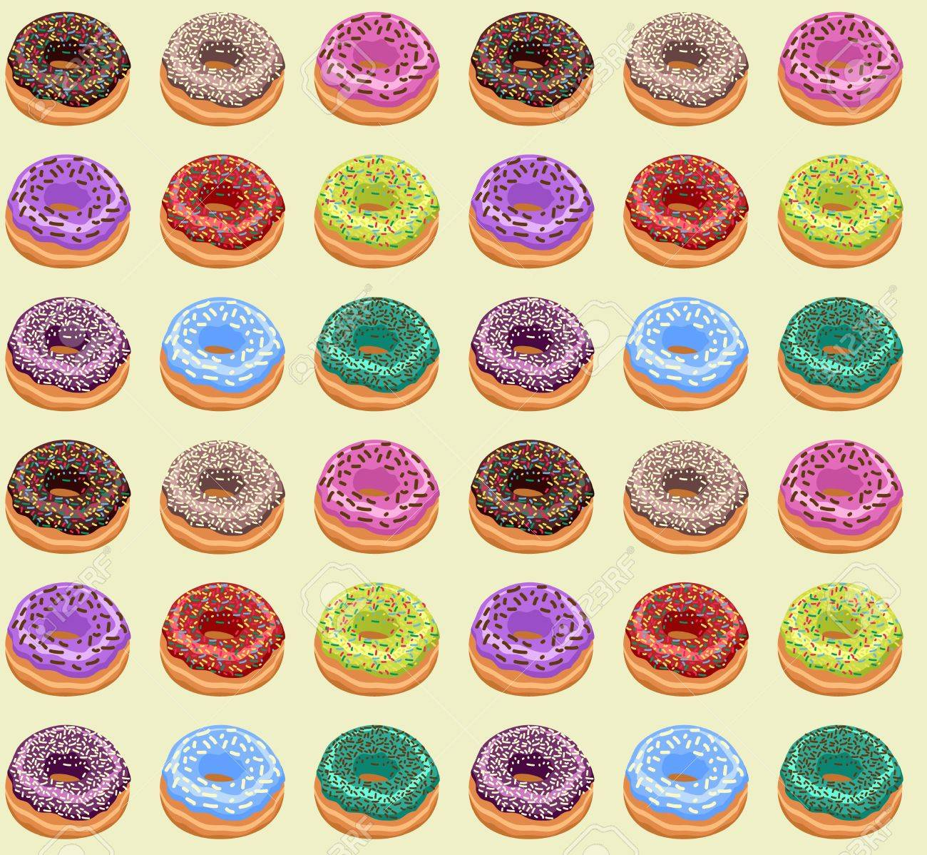 Seamless of Donuts Stock Vector - 14117327