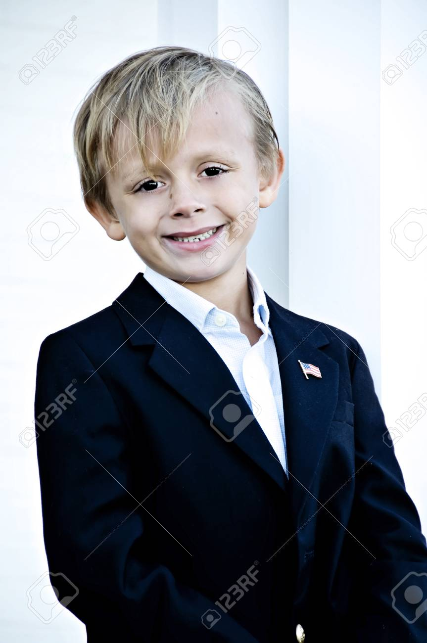 Young boy with a great smile posing for portrait Stock Photo - 3959500