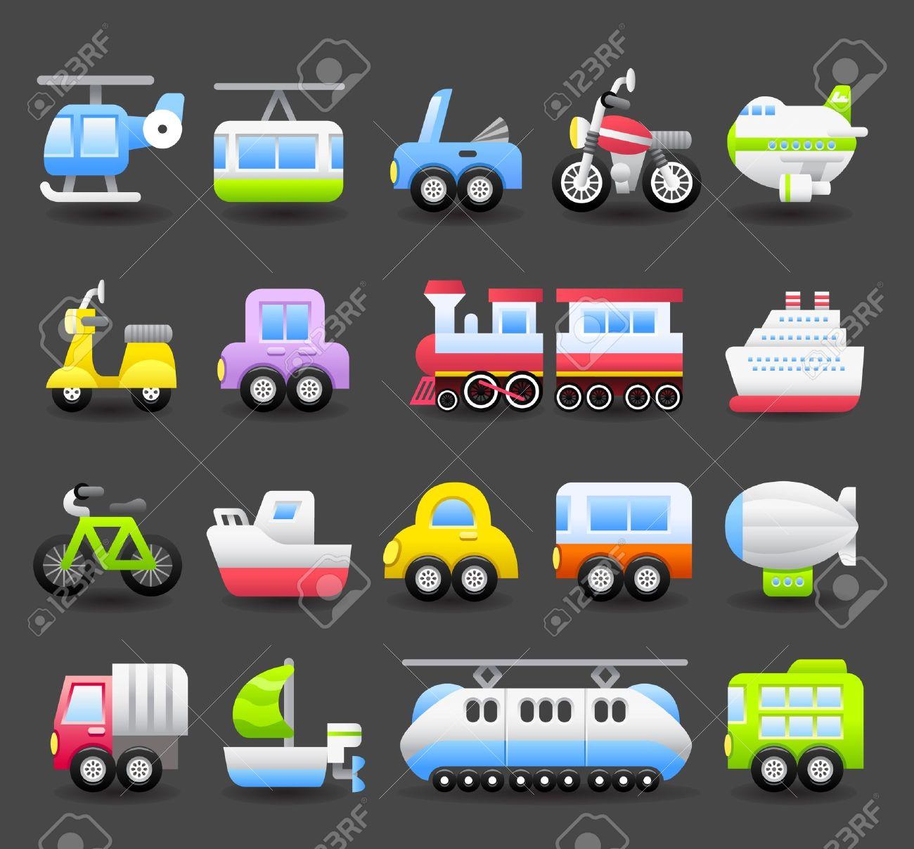 cartoon car,vehicle icon set - 10556183