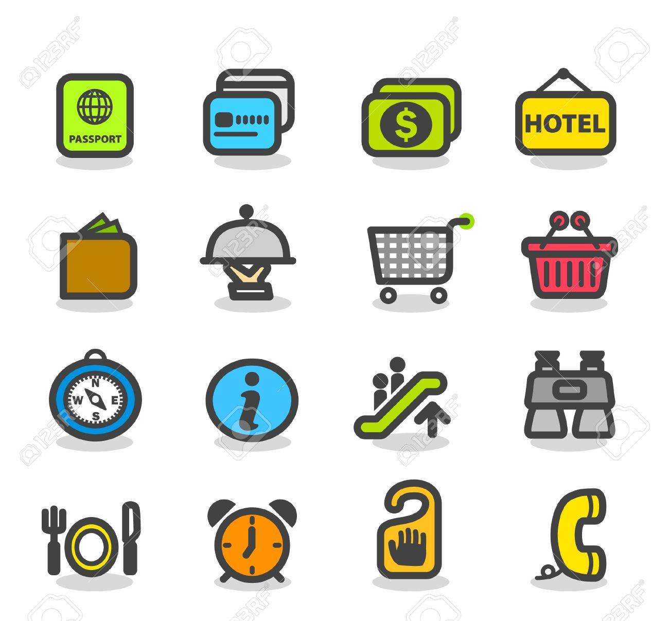 Travel ,holiday icon set Stock Vector - 10926407