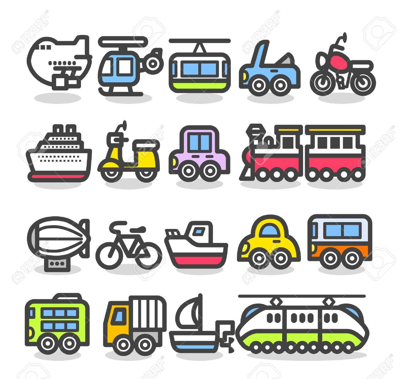 cute simple transportation icon Stock Vector - 10567273