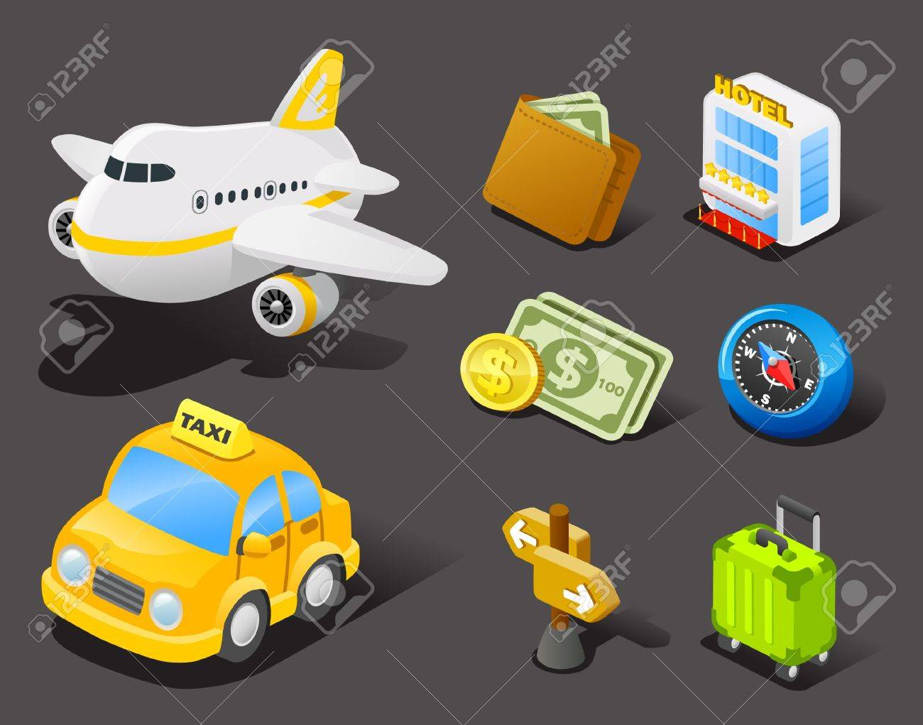 travel icon set Stock Vector - 10567275